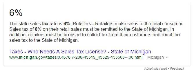 mi sales tax rate
