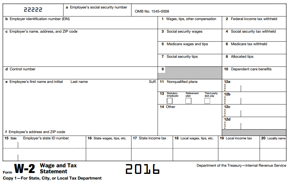 example of w-2 form