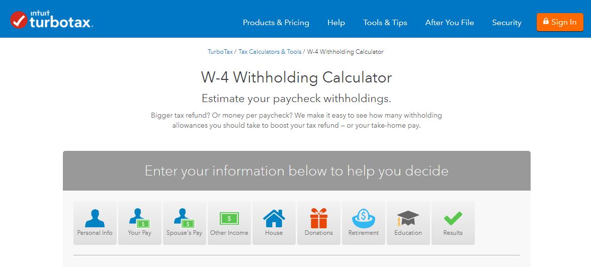 turbo-tax-w-4-withholding-tax-calculator