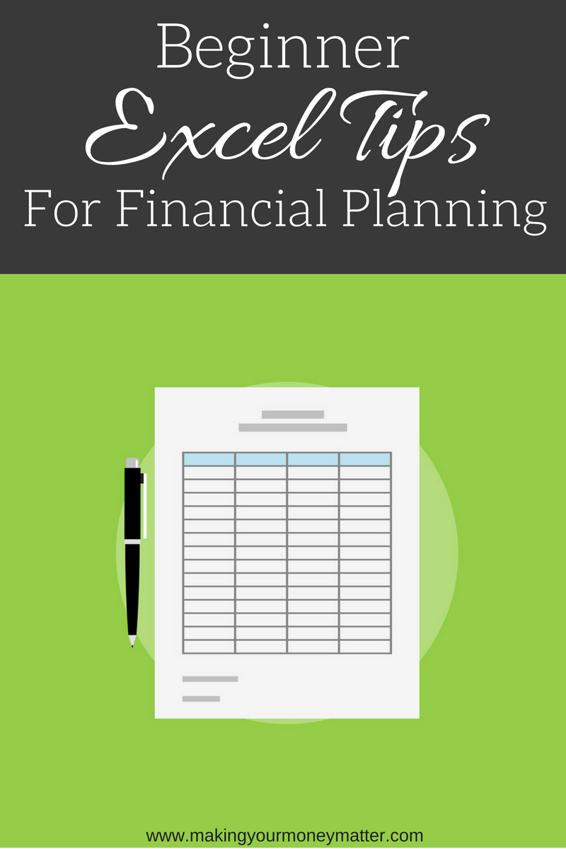 Check out this video for some basic excel functions that will help you get started in using excel to create your financial plan!