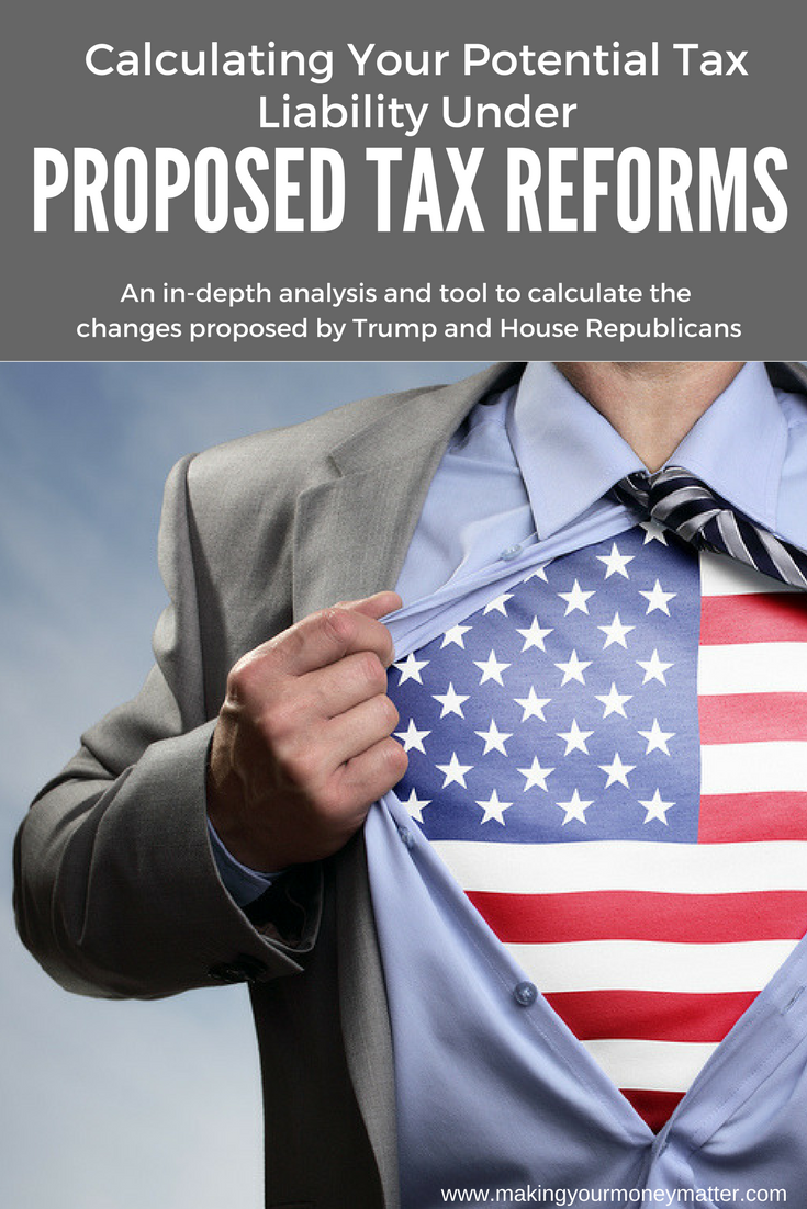 Use this simple free spreadsheet to calculate your potential tax liability under the proposed tax reform measured presented by President Trump and the House. SO easy-all you need is your 2016 tax return!