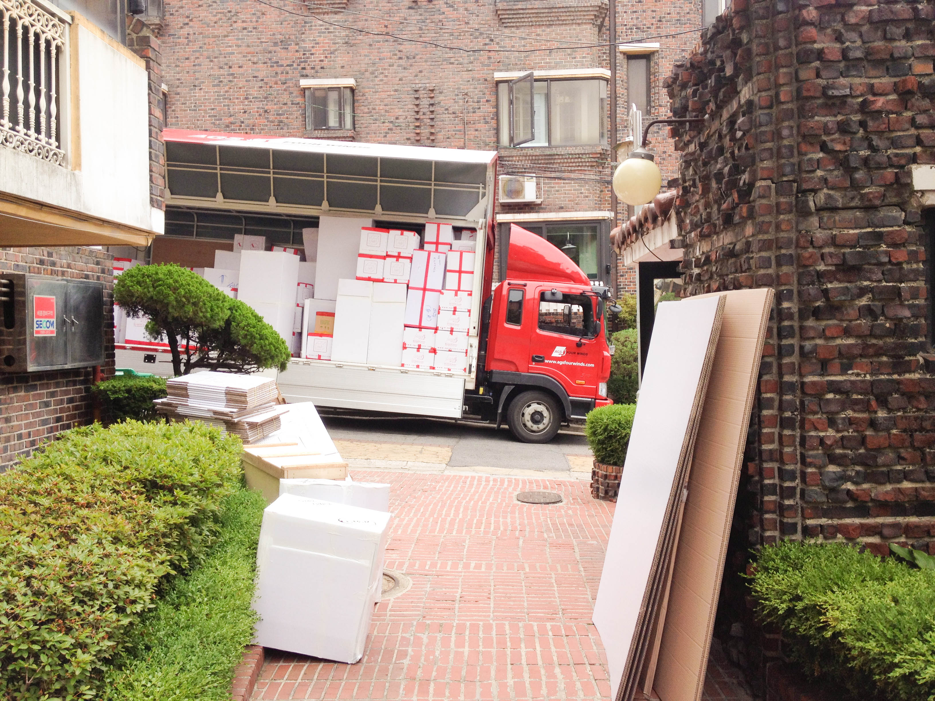 We had two large moving trucks to move us from our Seoul villa.