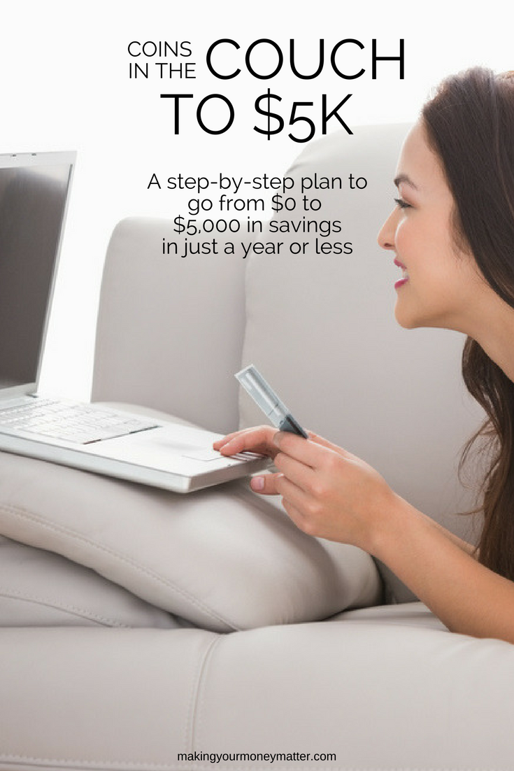 LOVE this financial version of couch to 5K. The gist of it: start saving small, cut expenses, make a little more income and put it in a separate savings account. Totally doable!