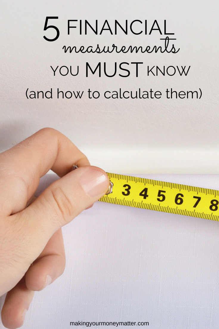Calculating a few simple key measurements will help you track progress to your financial goals and ensure you're making the most of your money.