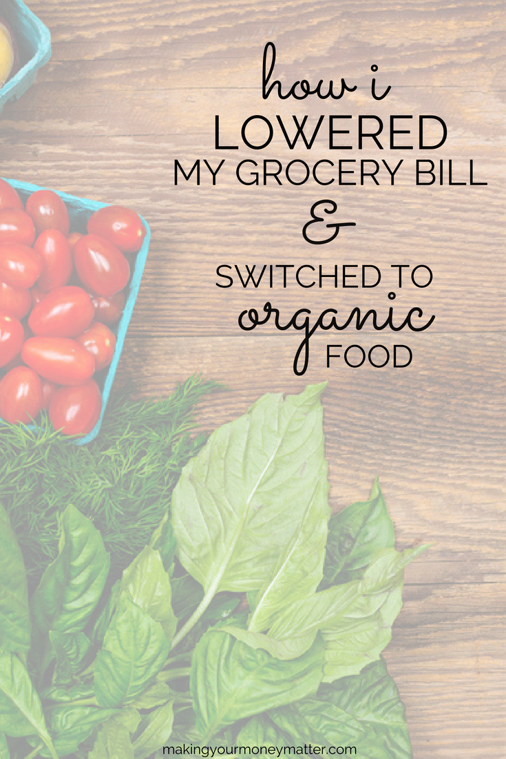 Modifying your eating and grocery shopping habits can allow you to reduce the amount you pay each month for groceries while also eating organic food!