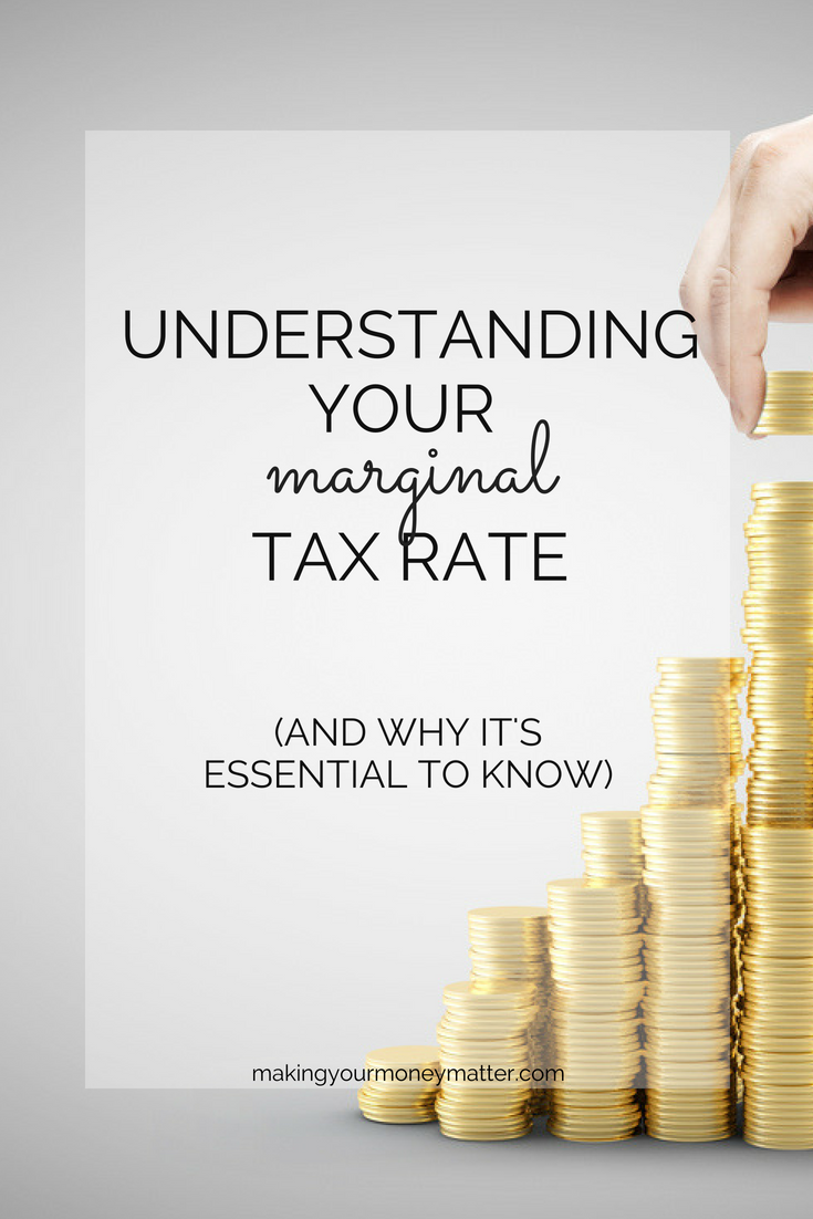 Understanding the progressive tax system in the U.S. and exactly how much you'll make on that next dollar of income is absolutely essential. Taxes may be your largest expense, so lowering that rate can make a huge impact.